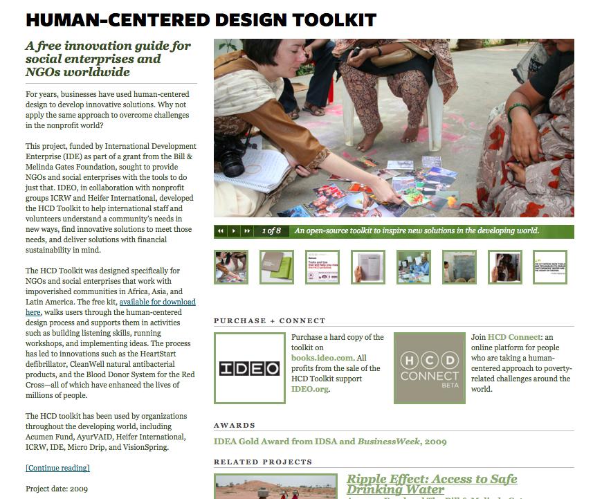 Human Centered Design Toolkit (IDEO)